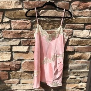 Victoria's Secret Vintage Gold Tag Satin Nighty